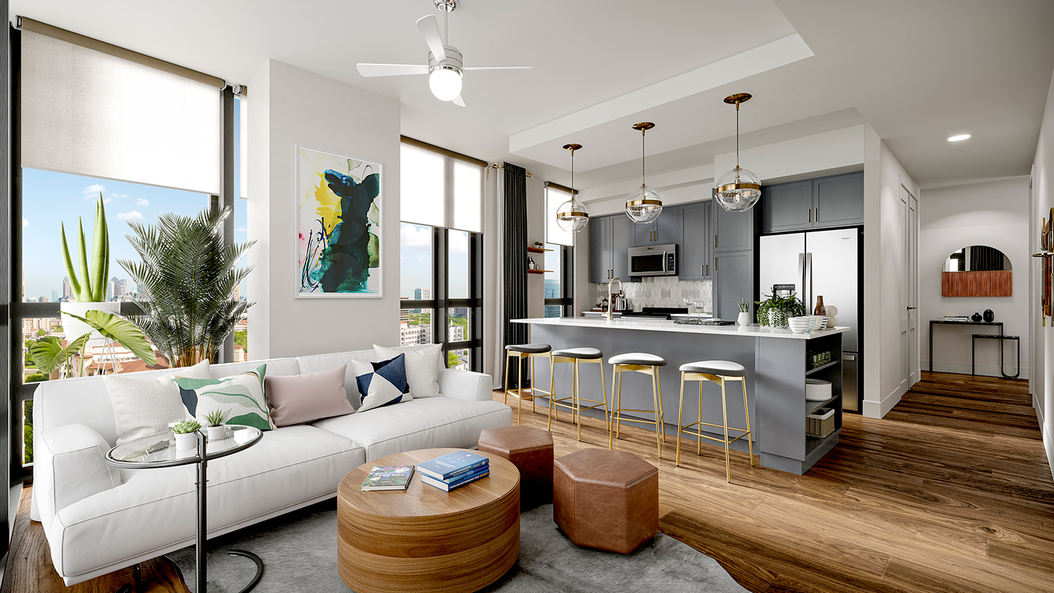 Aster Turtle Creek Kitchen and Living Room