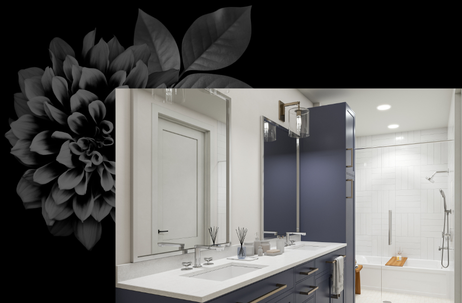 Aster Turtle Creek bathroom with double sinks.